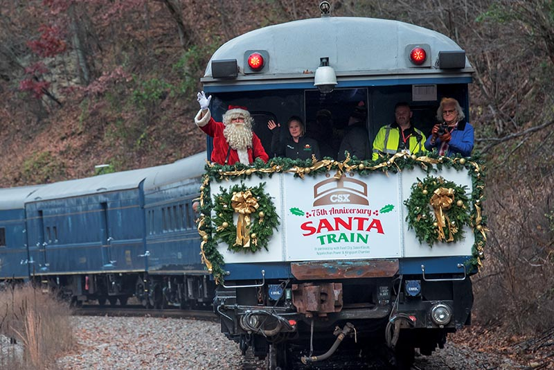 CSX Clinchfield Santa Train Canceled But Donations Continue