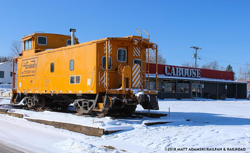 Rio Grande Caboose Moved to Caboose Train Store