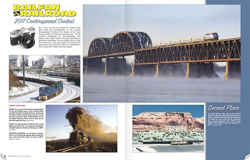 Railfan & Railroad Centerspread Contest
