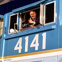 George H.W. Bush: Railfan?