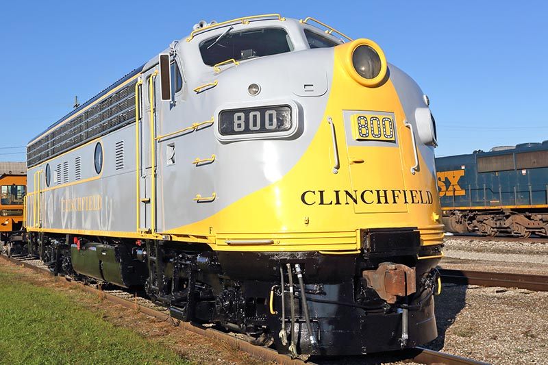 Clinchfield 800 to lead C&O 2716 Move in July