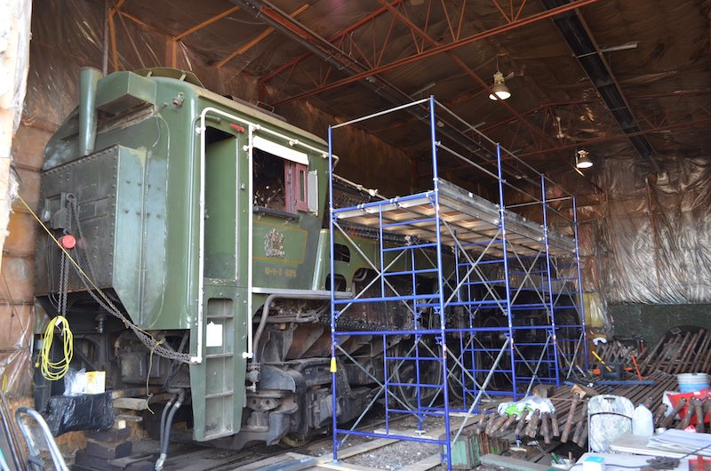 Canadian National 4-8-2 Being Restored in Alberta