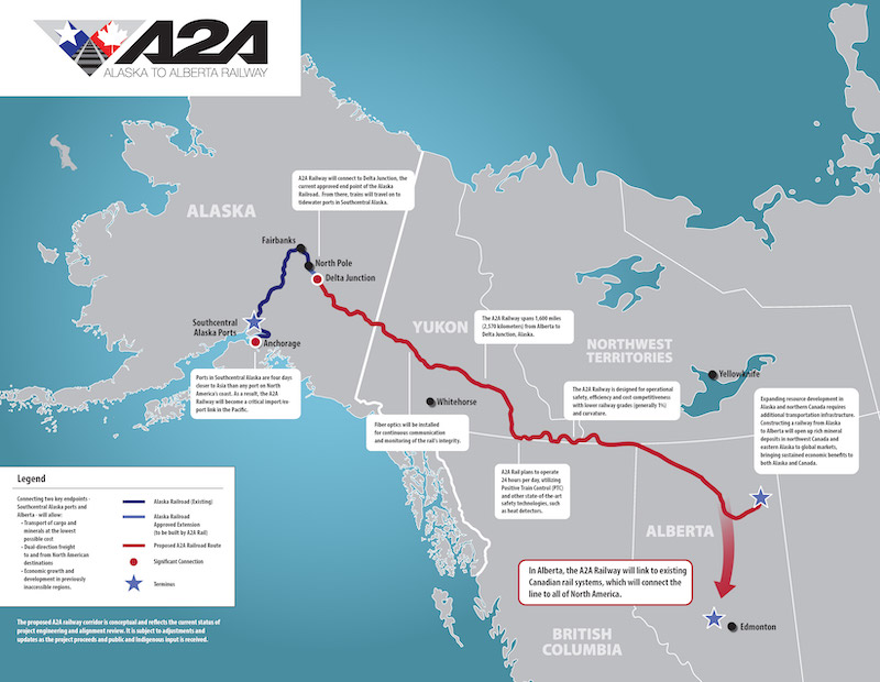 Survey of Rail Route Connecting Alberta to Alaska Begins
