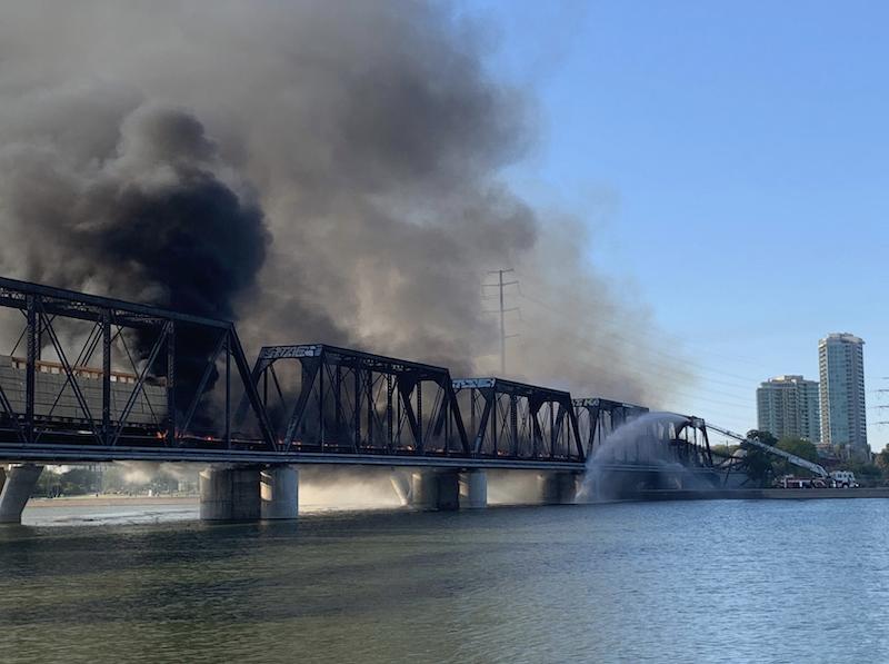 Union Pacific Bridge Collapses in Fiery Derailment in Arizona