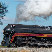 N&W 611 to Star in Night Photo Session at N.C. Transportation Museum