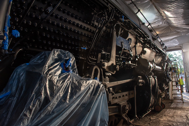 Cosmetic Restoration of UP Big Boy Nears Completion at Steamtown