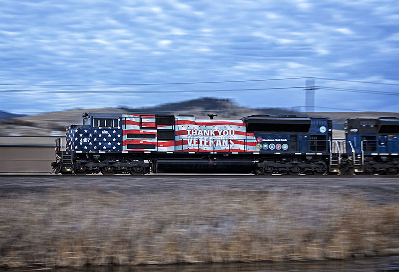 Photos: Montana Rail Link Unveils First of Two Tribute Locomotives