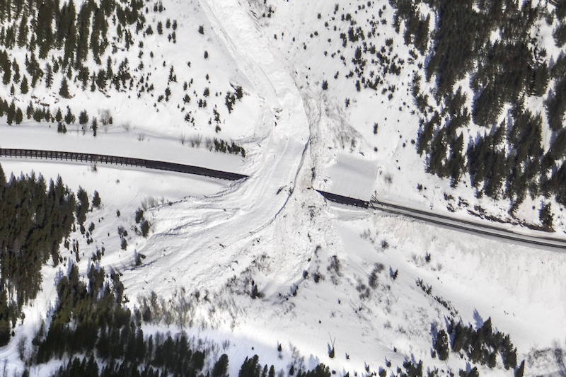 Avalanche Blocks BNSF's Main Line in Montana