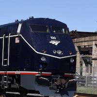 Amtrak 50th Anniversary Unit on Display at B&O Museum