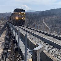 Union Pacific Rebuilds Fire-Damaged Bridge a Month Early